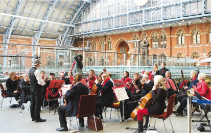 Orchestra Performing at St Pancras